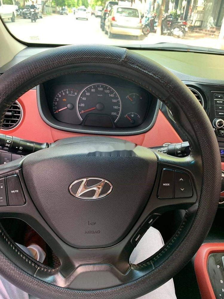 Cần bán lại xe Hyundai Grand i10 1.2AT năm 2015, màu đỏ, nhập khẩu (7)