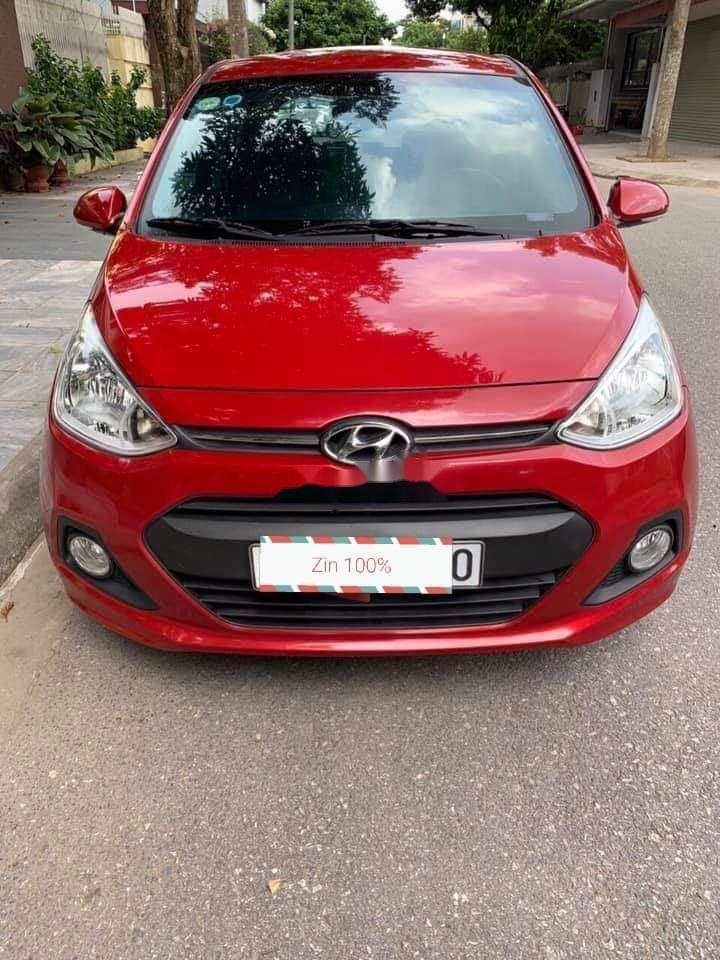 Cần bán lại xe Hyundai Grand i10 1.2AT năm 2015, màu đỏ, nhập khẩu (9)