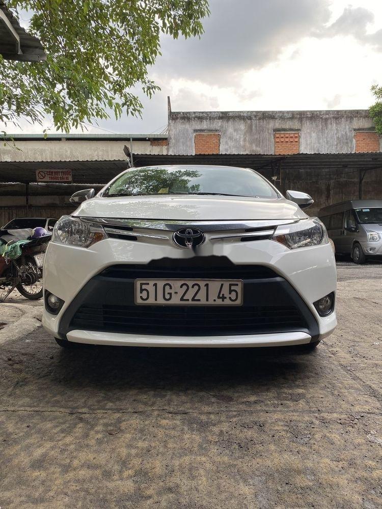Bán Toyota Vios 1.5MT  đời 2016, màu trắng xe gia đình (1)