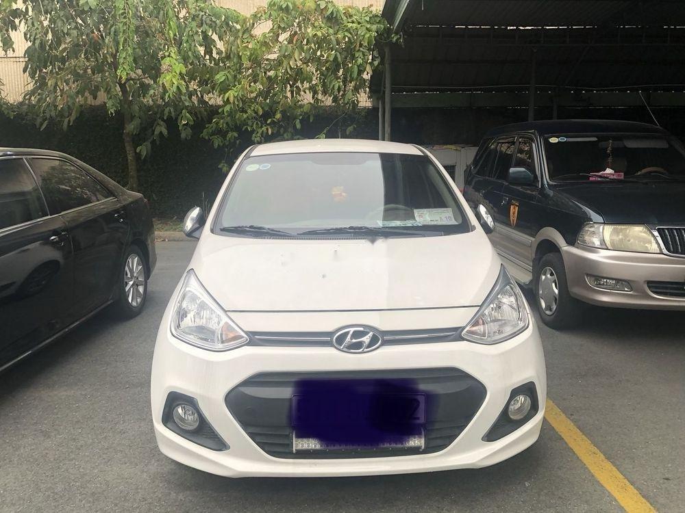Cần bán xe Hyundai Grand i10 sản xuất 2014, màu trắng, nhập khẩu nguyên chiếc số tự động (1)