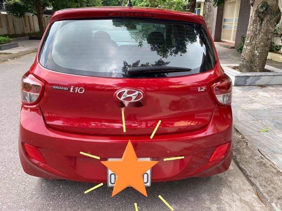 Cần bán lại xe Hyundai Grand i10 1.2AT năm 2015, màu đỏ, nhập khẩu (4)