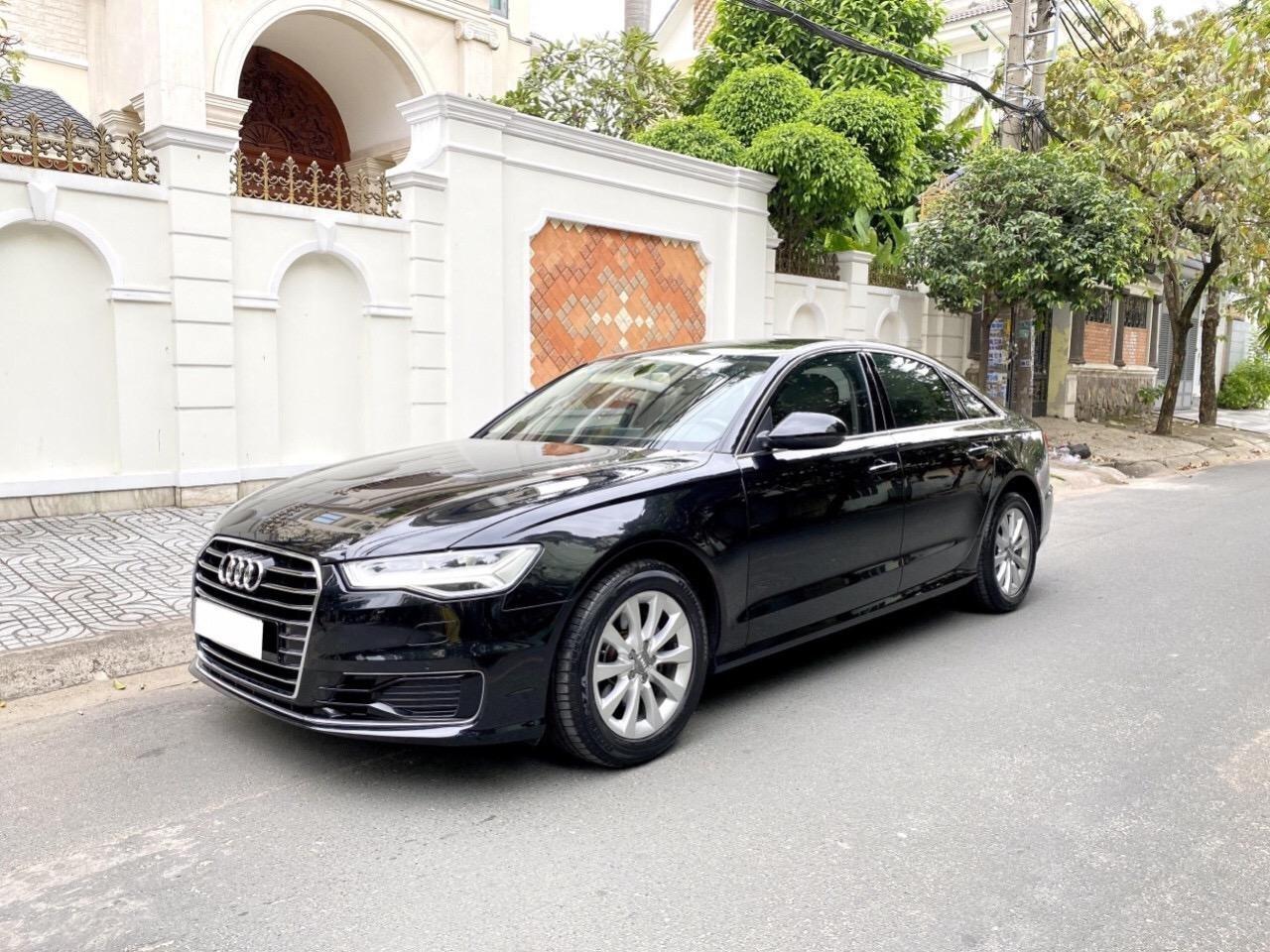 Bán Audi A6 2015 đăng ký 2017 màu đen nội thất kem  xe đẹp, không lỗi bao check tại hãng (2)