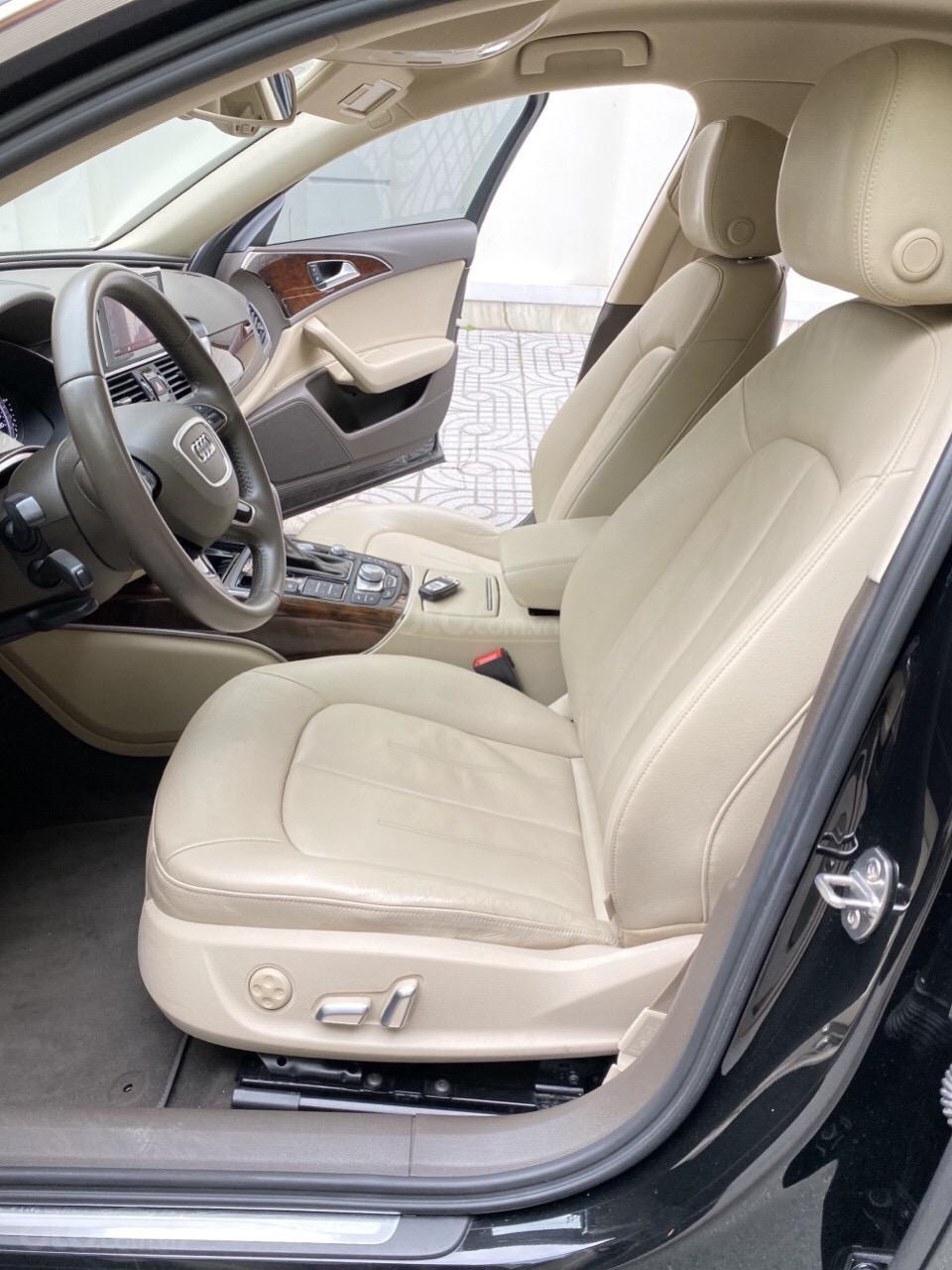 Bán Audi A6 2015 đăng ký 2017 màu đen nội thất kem  xe đẹp, không lỗi bao check tại hãng (5)
