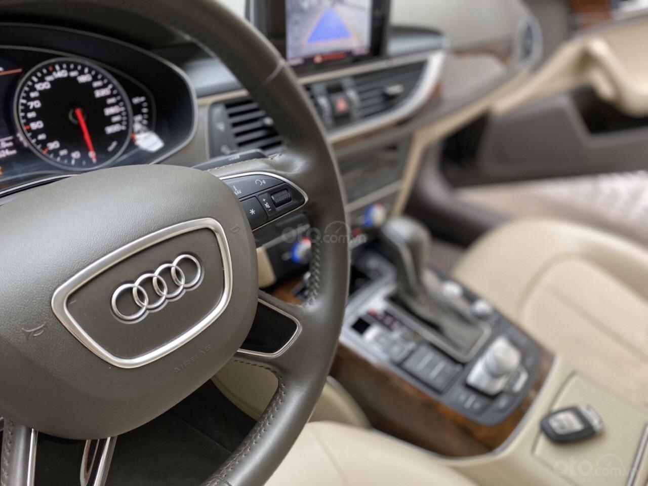 Bán Audi A6 2015 đăng ký 2017 màu đen nội thất kem  xe đẹp, không lỗi bao check tại hãng (7)