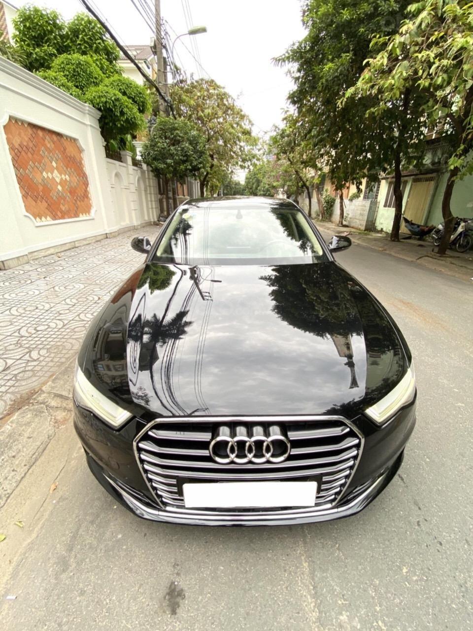 Bán Audi A6 2015 đăng ký 2017 màu đen nội thất kem  xe đẹp, không lỗi bao check tại hãng (9)