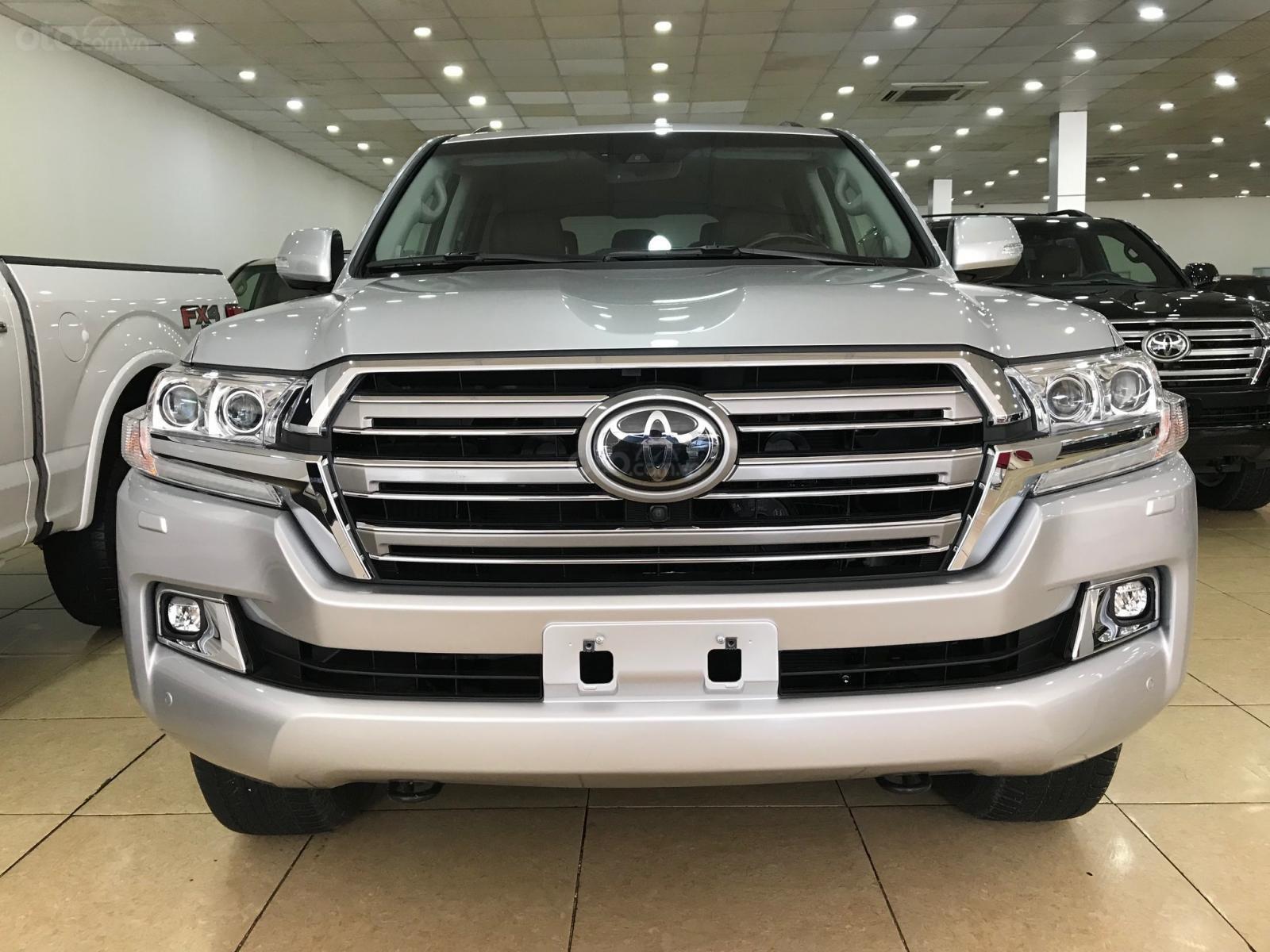 Bán Toyota Land Cruiser 5.7 đời 2019, màu bạc, đen nhập Mỹ (1)