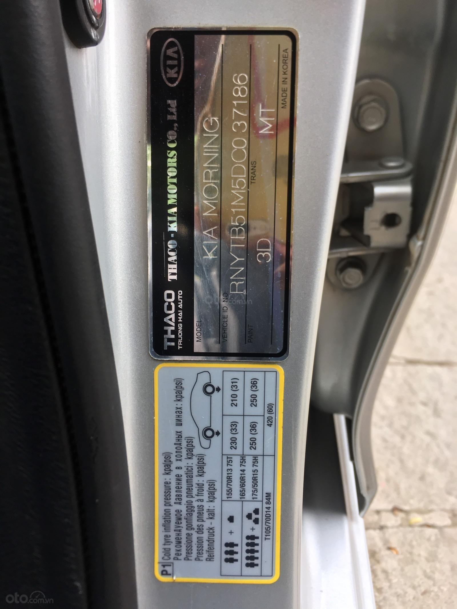 Cần bán xe Kia Morning sản xuất 2013, màu bạc, giá 245tr (8)