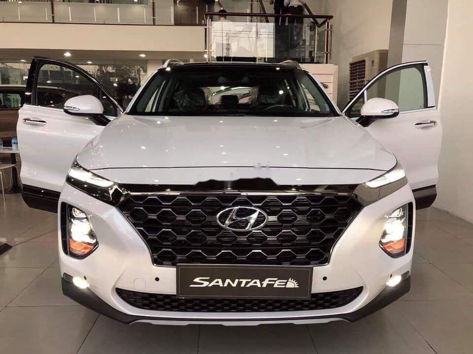 Bán Hyundai Santa Fe năm sản xuất 2019, màu trắng, xe nhập (1)