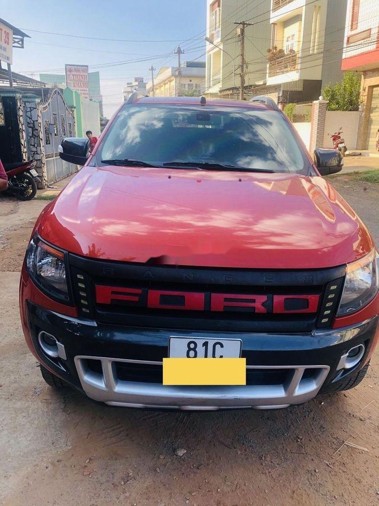 Cần bán lại xe Ford Ranger đời 2015, màu đỏ, nhập khẩu nguyên chiếc chính hãng (1)