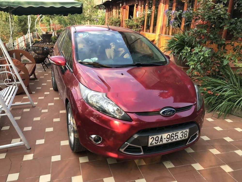 Cần bán Ford Fiesta 1.6AT năm sản xuất 2013, màu đỏ, giá 350tr (10)