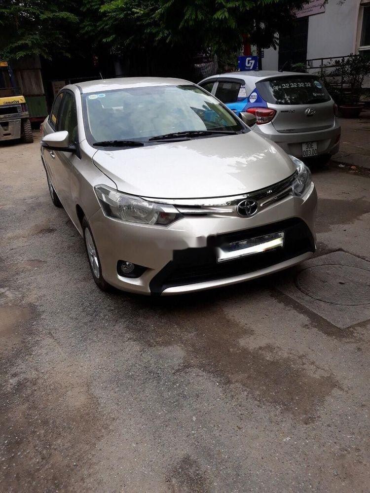 Bán ô tô Toyota Vios năm sản xuất 2015, màu vàng cát (1)