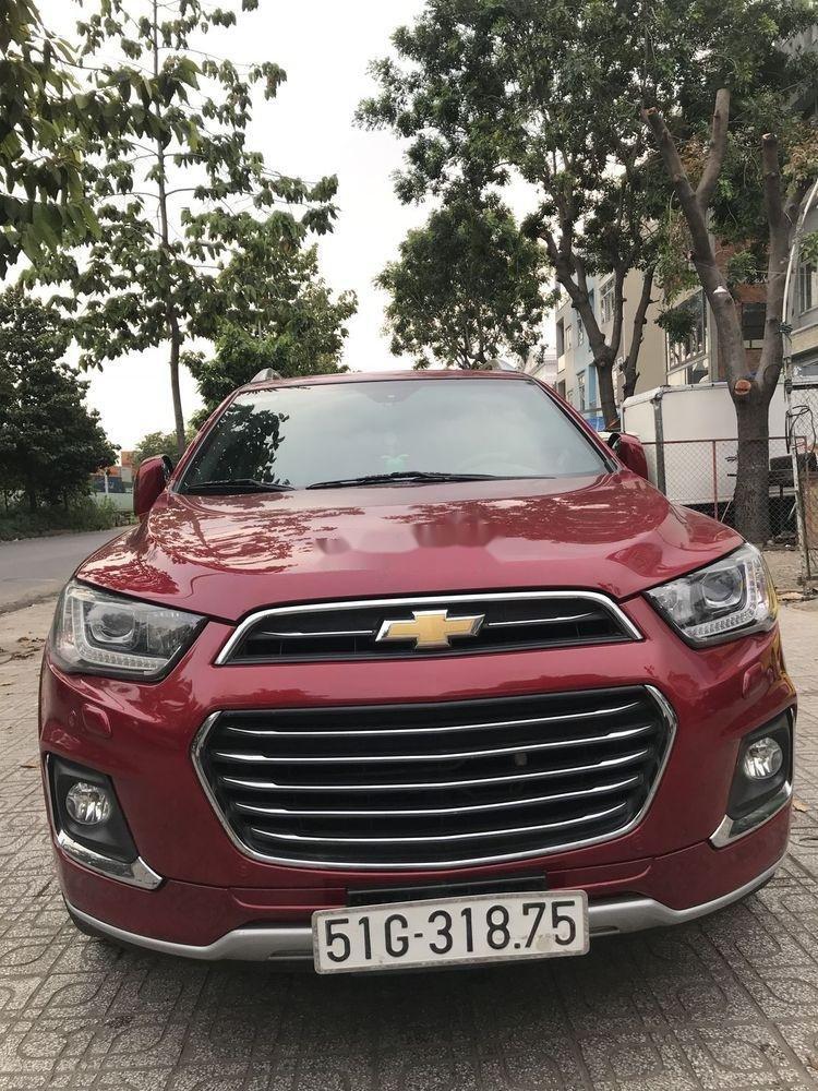 Bán Chevrolet Captiva sản xuất 2017, màu đỏ, 590 triệu (4)