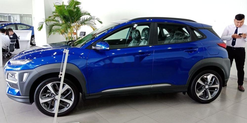 Bán Hyundai Kona sản xuất năm 2019, màu xanh lam, nhập khẩu   (2)