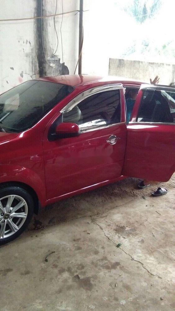 Bán xe Chevrolet Aveo sản xuất 2012, màu đỏ, giá tốt (8)