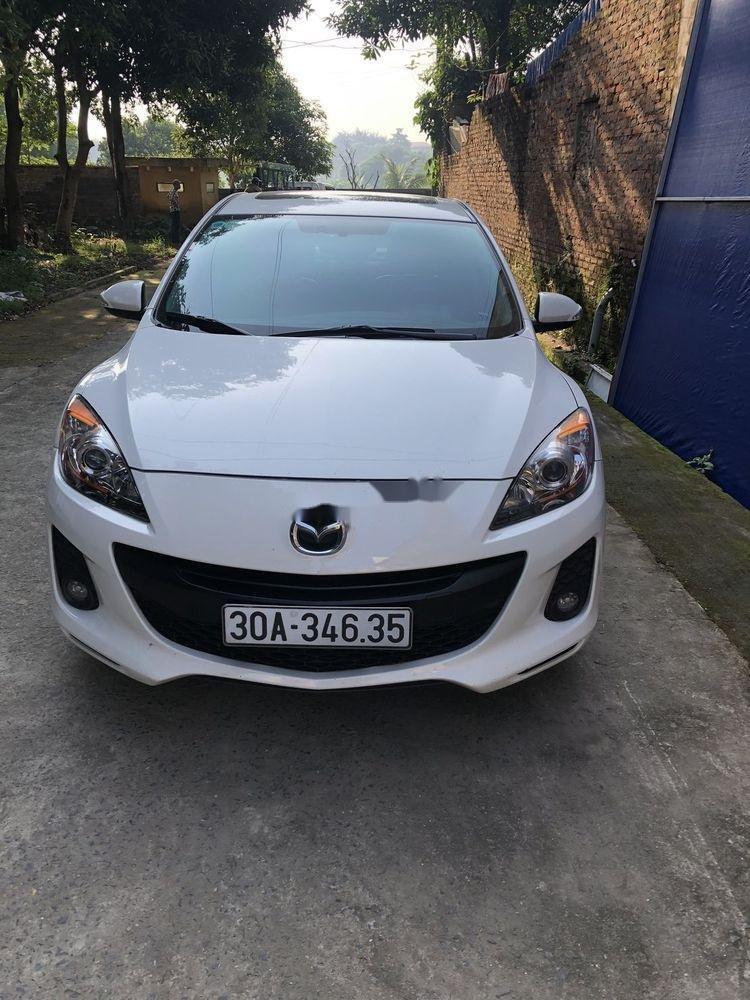 Cần bán gấp Mazda 3 đời 2014, màu trắng xe nguyên bản (1)
