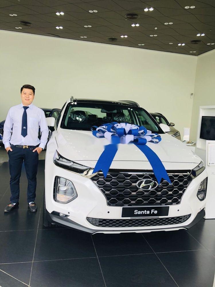Bán Hyundai Santa Fe năm sản xuất 2019, màu trắng, xe nhập (2)