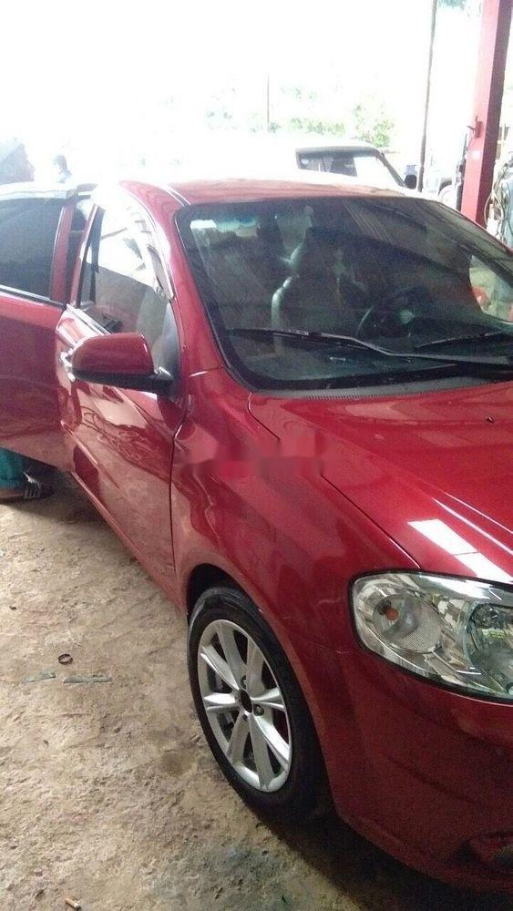 Bán xe Chevrolet Aveo sản xuất 2012, màu đỏ, giá tốt (5)