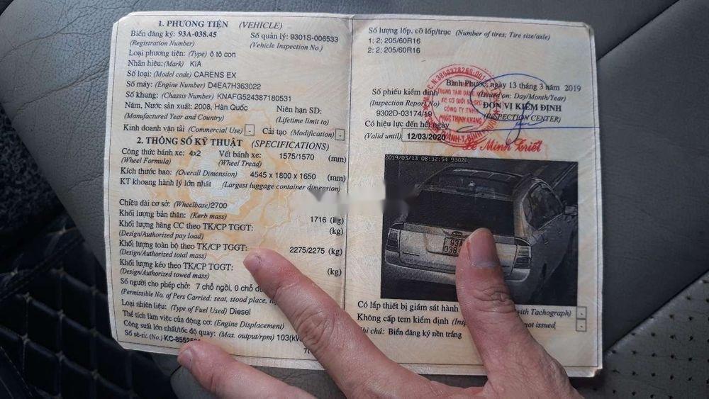Bán Kia Carens năm sản xuất 2008, nhập khẩu nguyên chiếc, giá chỉ 348 tr xe nguyên bản (12)