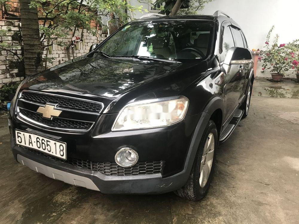 Bán Chevrolet Captiva sản xuất 2007, màu đen xe gia đình, giá 259tr (1)