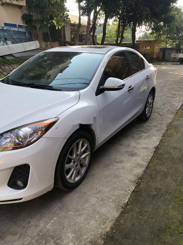 Cần bán gấp Mazda 3 đời 2014, màu trắng xe nguyên bản (3)