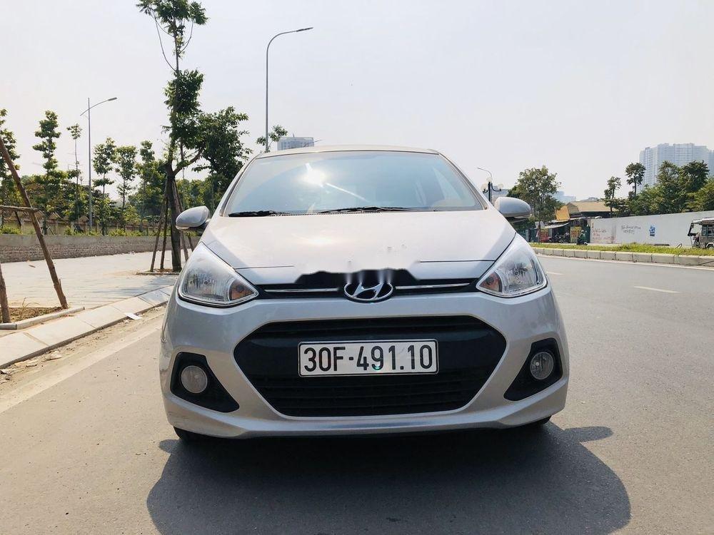 Bán Hyundai Grand i10 đời 2016, màu bạc, nhập khẩu, xe gia đình  (1)