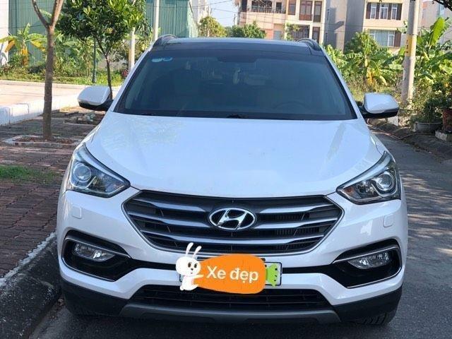 Cần bán Hyundai Santa Fe sản xuất 2018, màu trắng xe nguyên bản (1)