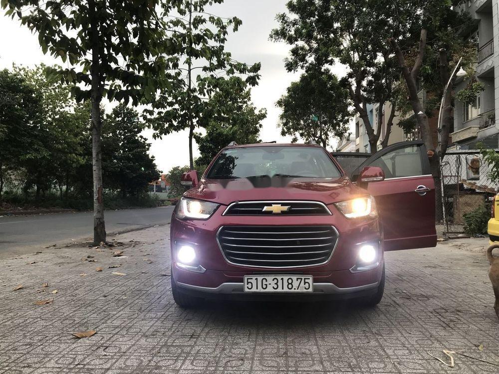 Bán Chevrolet Captiva sản xuất 2017, màu đỏ, 590 triệu (1)