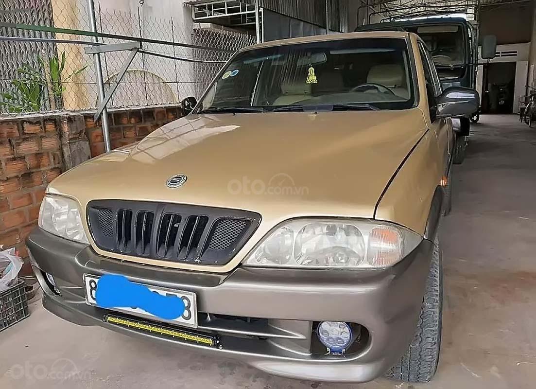 Bán Ssangyong Musso 2.3 2001, màu vàng, nhập khẩu, số sàn  (1)