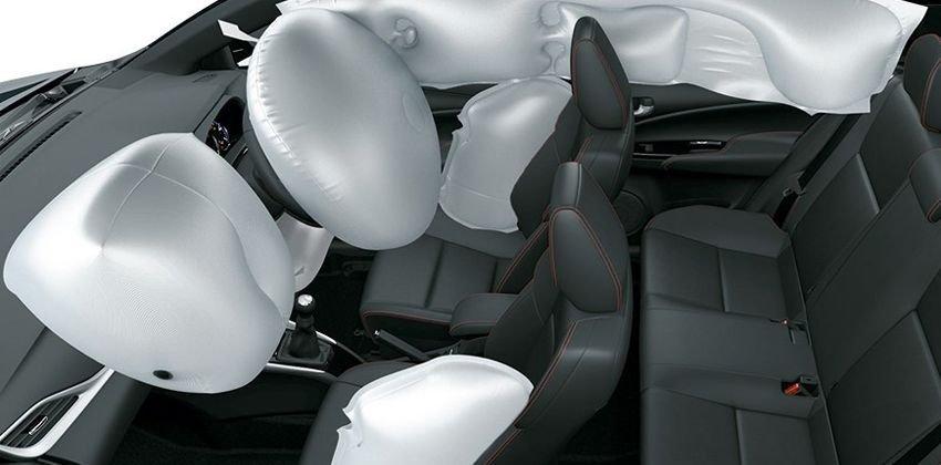 Toyota Vios 2020 điều chỉnh số lượng túi khí trong xe
