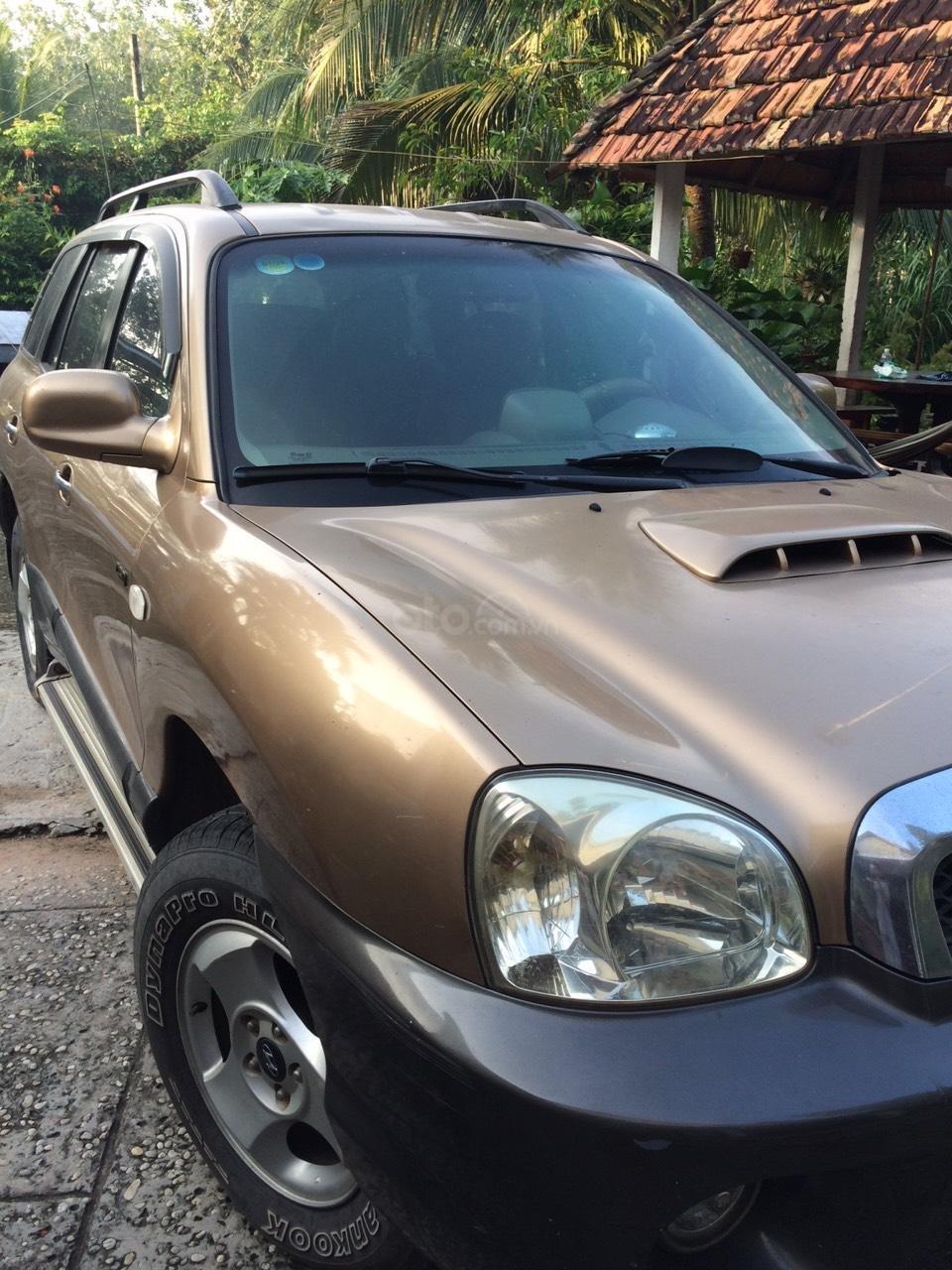 Bán Hyundai Santa Fe sản xuất năm 2003, màu nâu, nhập khẩu nguyên chiếc, giá 250tr (3)