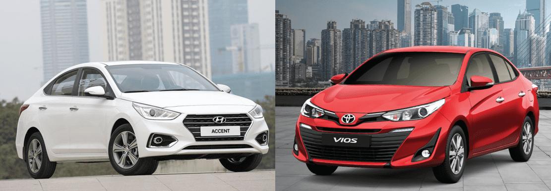 Tổng quát so sánh xe Hyundai Accent 2019 và Toyota Vios 2019.