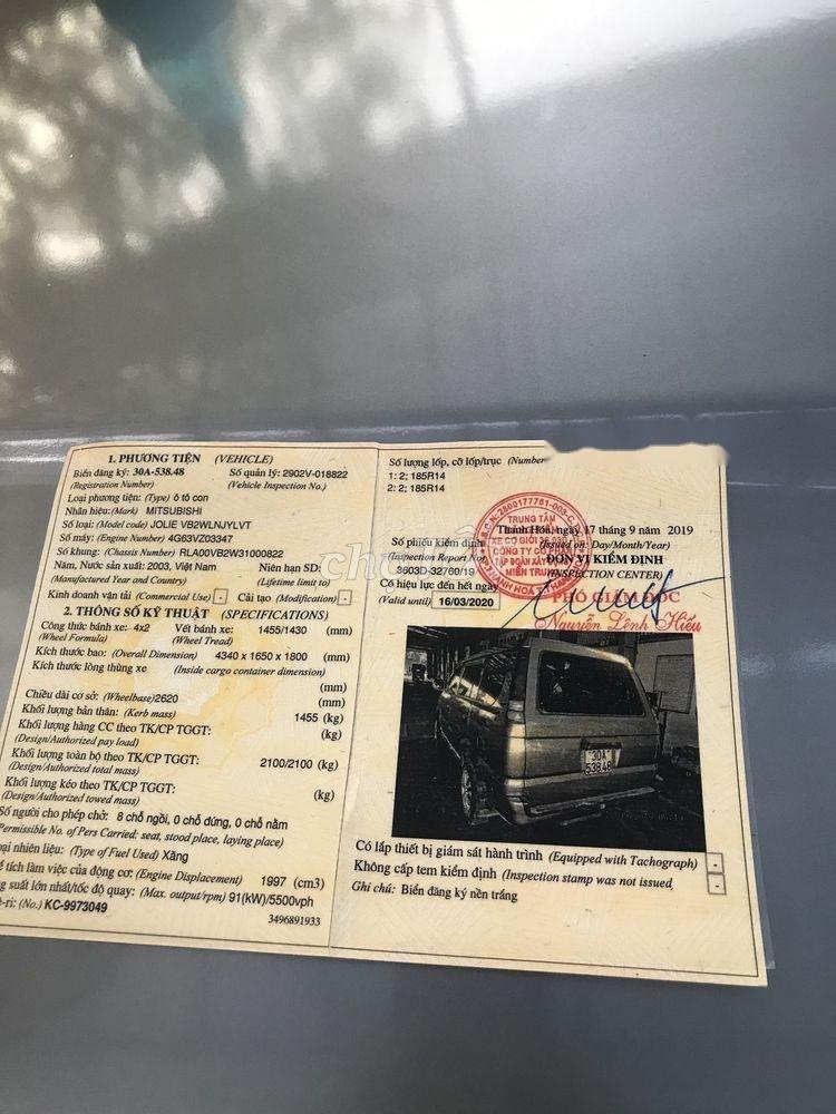 Bán ô tô Mitsubishi Jolie sản xuất 2003, nhập khẩu chính hãng (5)