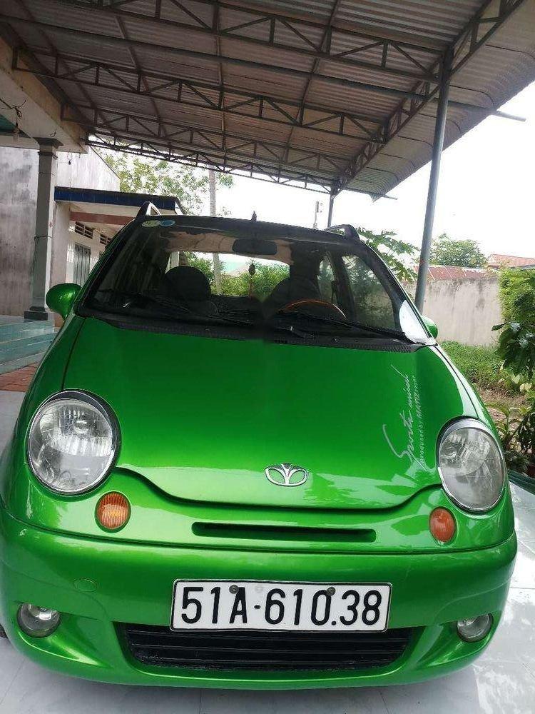 Cần bán lại xe Daewoo Matiz 2005, màu xanh lục xe gia đình (1)