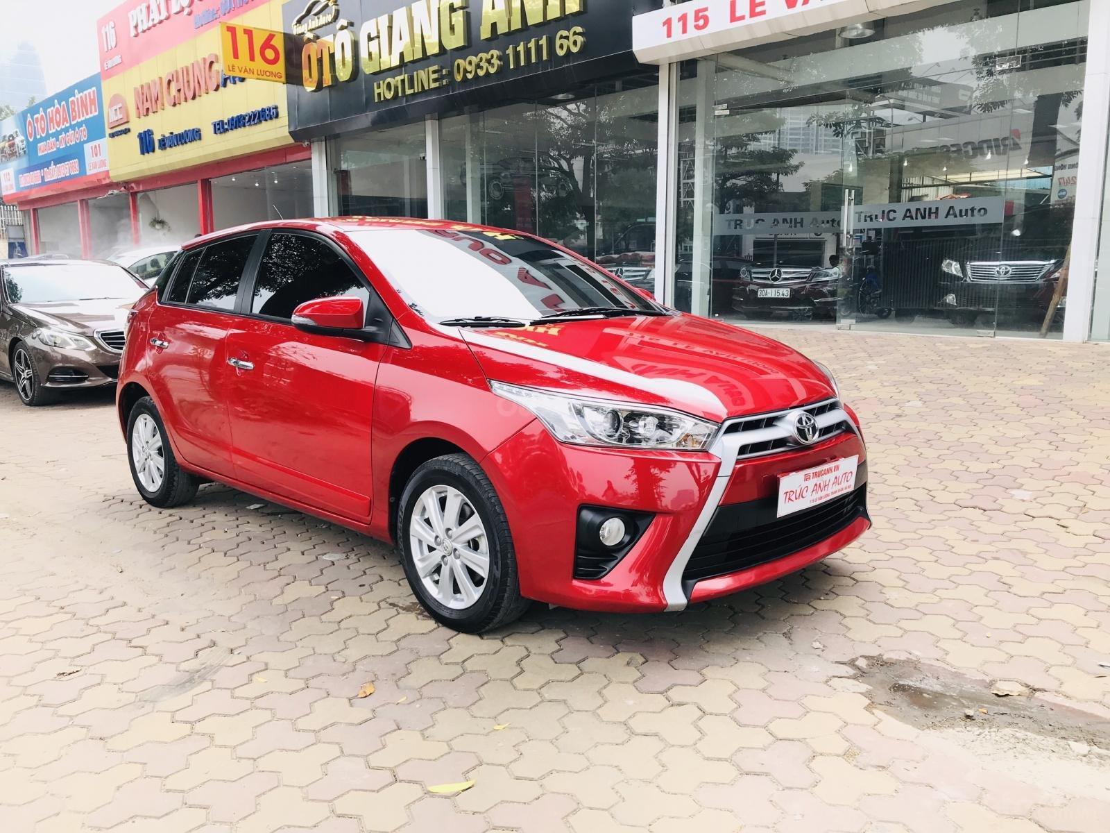 Cần bán Toyota Yaris 1.5 G sản xuất 2017, màu đỏ, xe nhập (5)