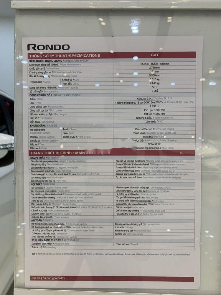 Bán ô tô Kia Rondo 2019 xe mới nội thất đẹp (9)