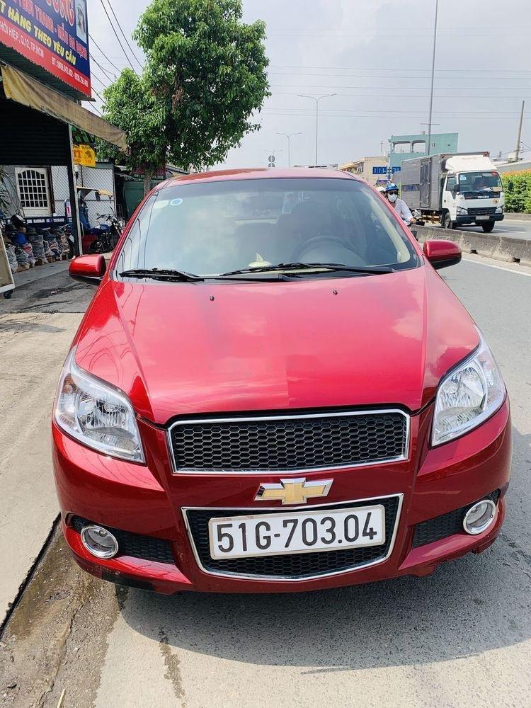 Bán xe Chevrolet Aveo đời 2018, màu đỏ, mới chạy 9.700km (1)
