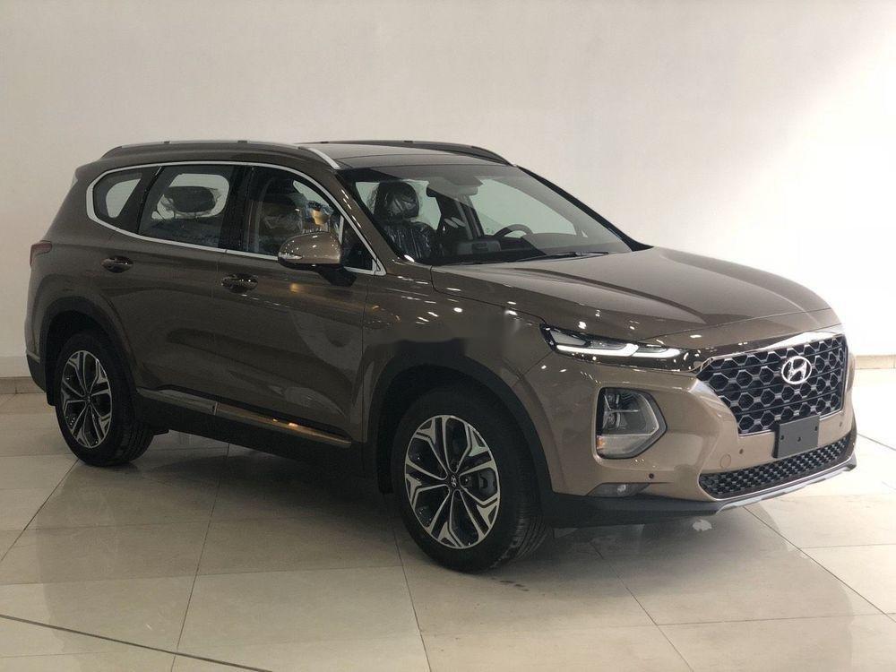Bán xe Hyundai Santa Fe đời 2019, màu nâu (6)