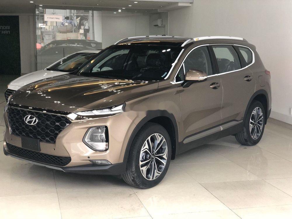 Bán xe Hyundai Santa Fe đời 2019, màu nâu (1)