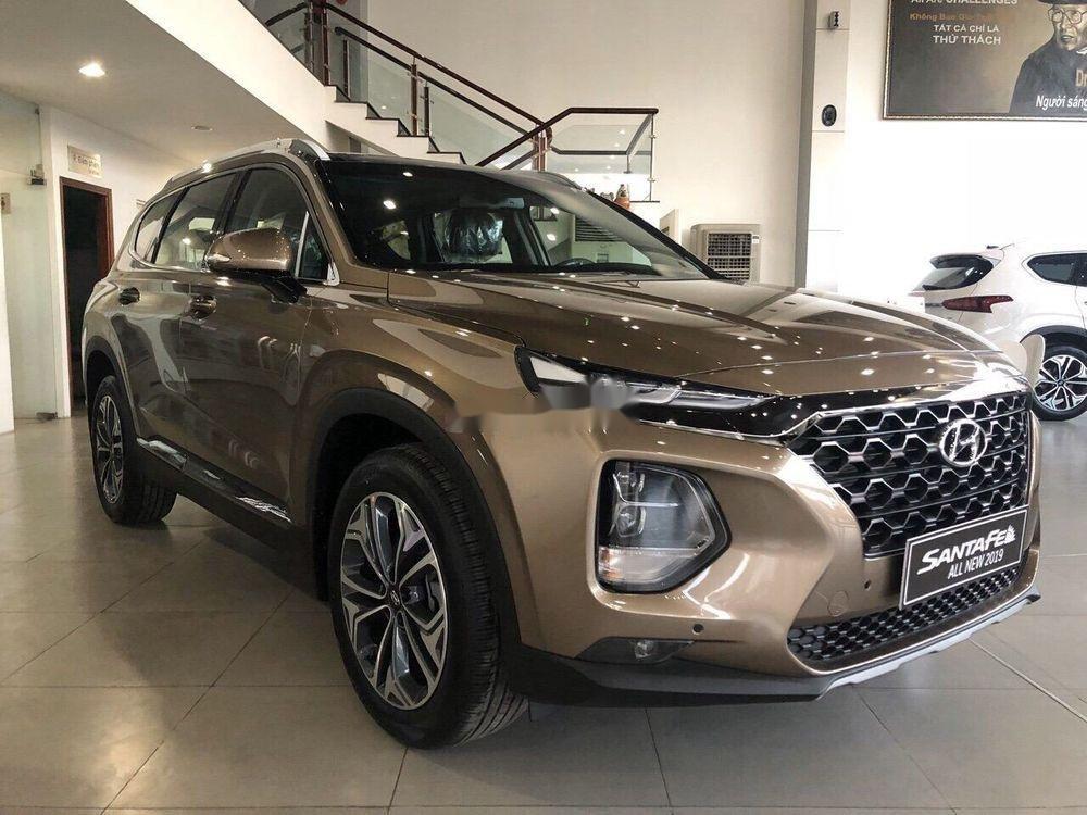 Bán xe Hyundai Santa Fe đời 2019, màu nâu (4)