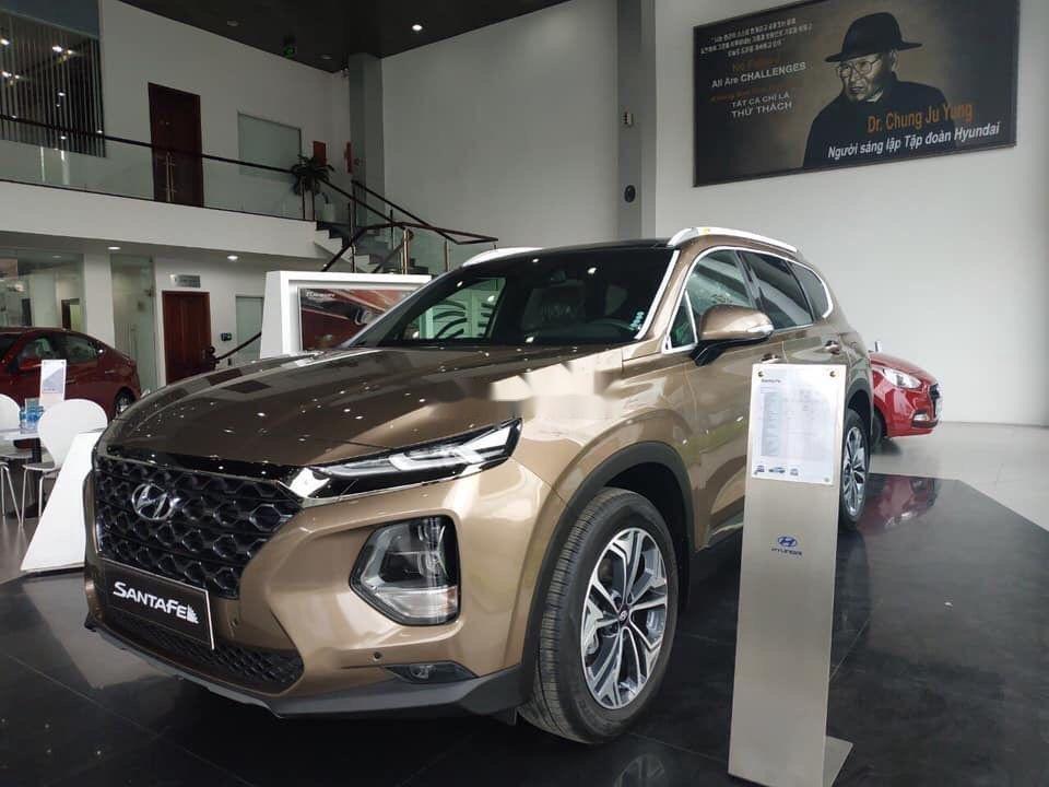 Bán xe Hyundai Santa Fe đời 2019, màu nâu (2)