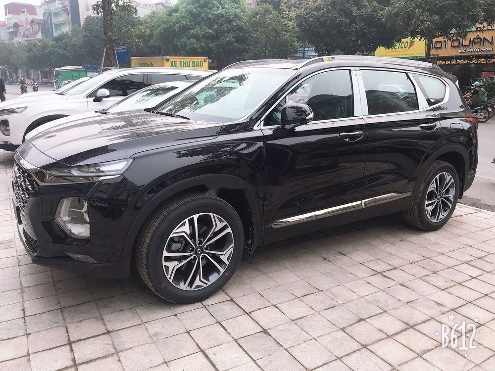 Bán Hyundai Santa Fe đời 2019, màu đen, sẵn giao ngay (3)