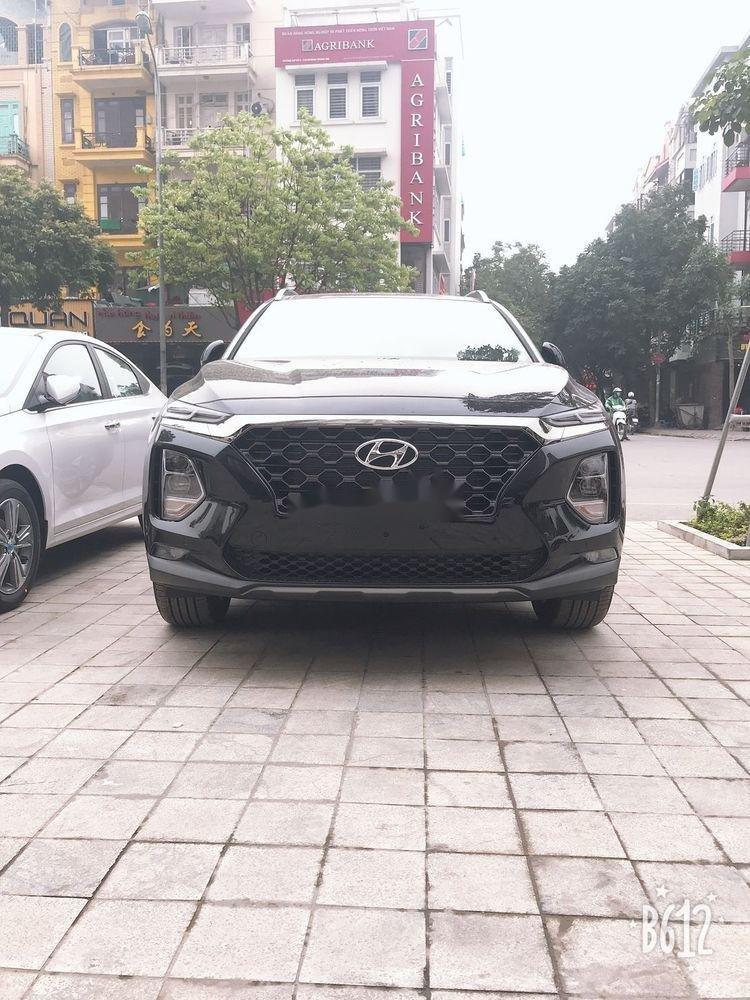 Bán Hyundai Santa Fe đời 2019, màu đen, sẵn giao ngay (1)
