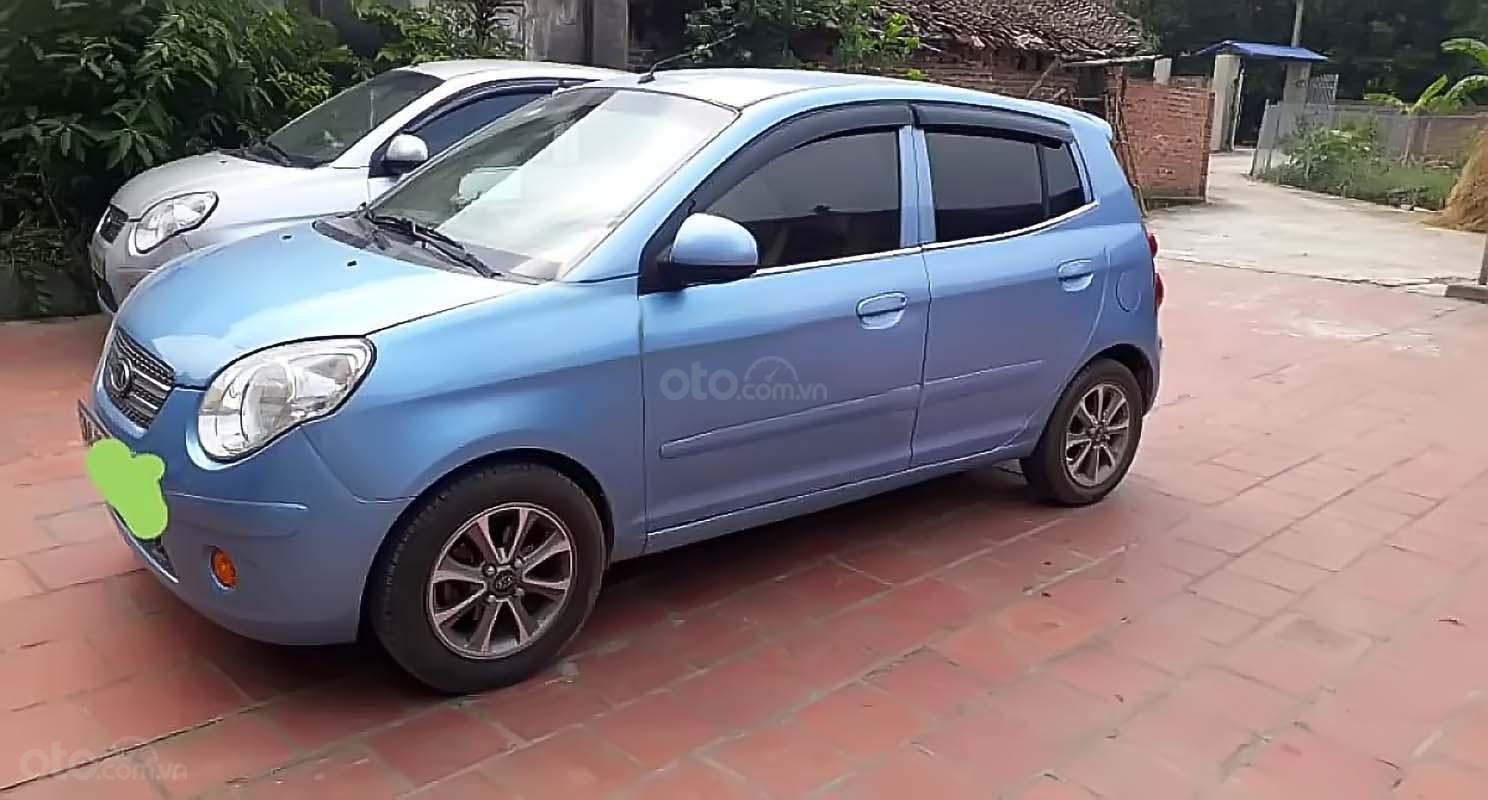 Bán xe Kia Morning năm 2010, màu xanh lam xe gia đình (1)