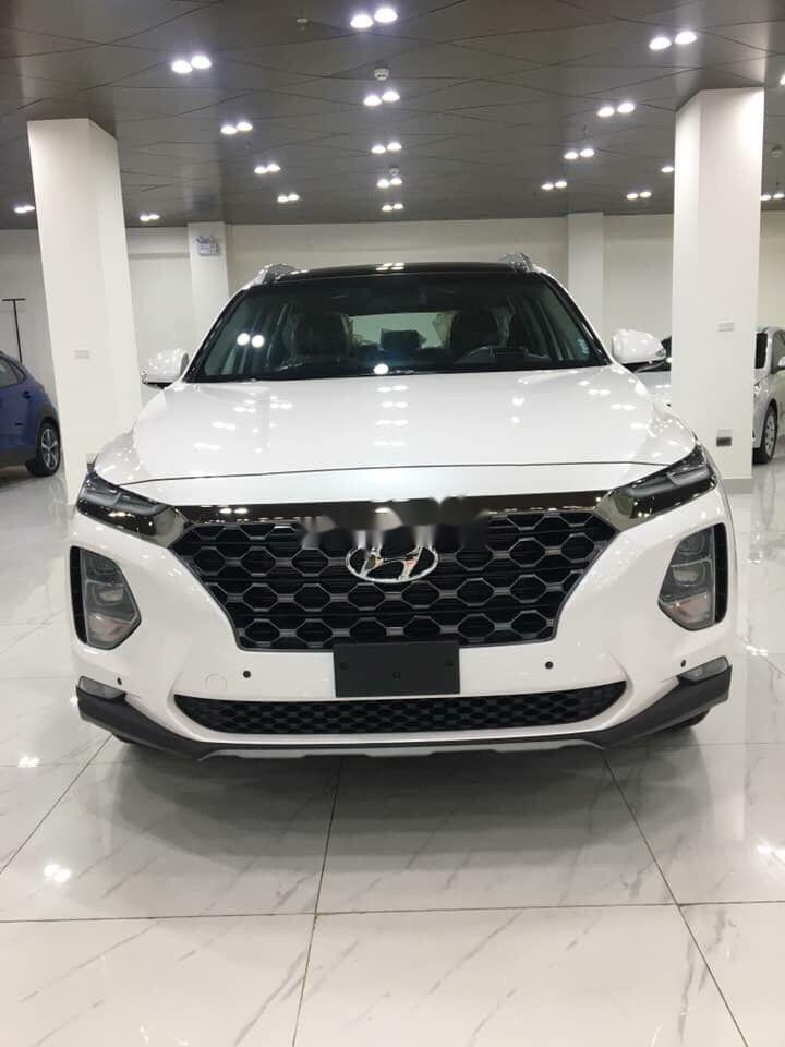 Cần bán xe Hyundai Santa Fe 2019, màu trắng, nhập khẩu nguyên chiếc (1)