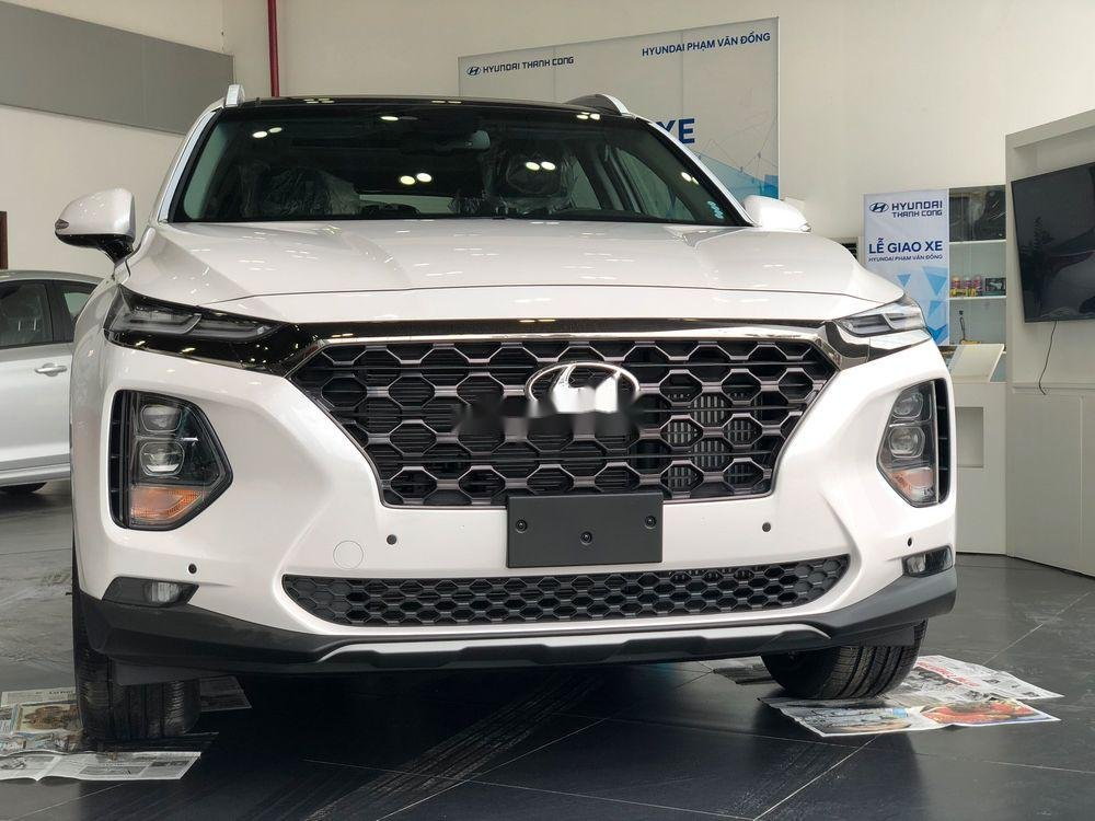Cần bán xe Hyundai Santa Fe 2019, màu trắng, nhập khẩu nguyên chiếc (5)