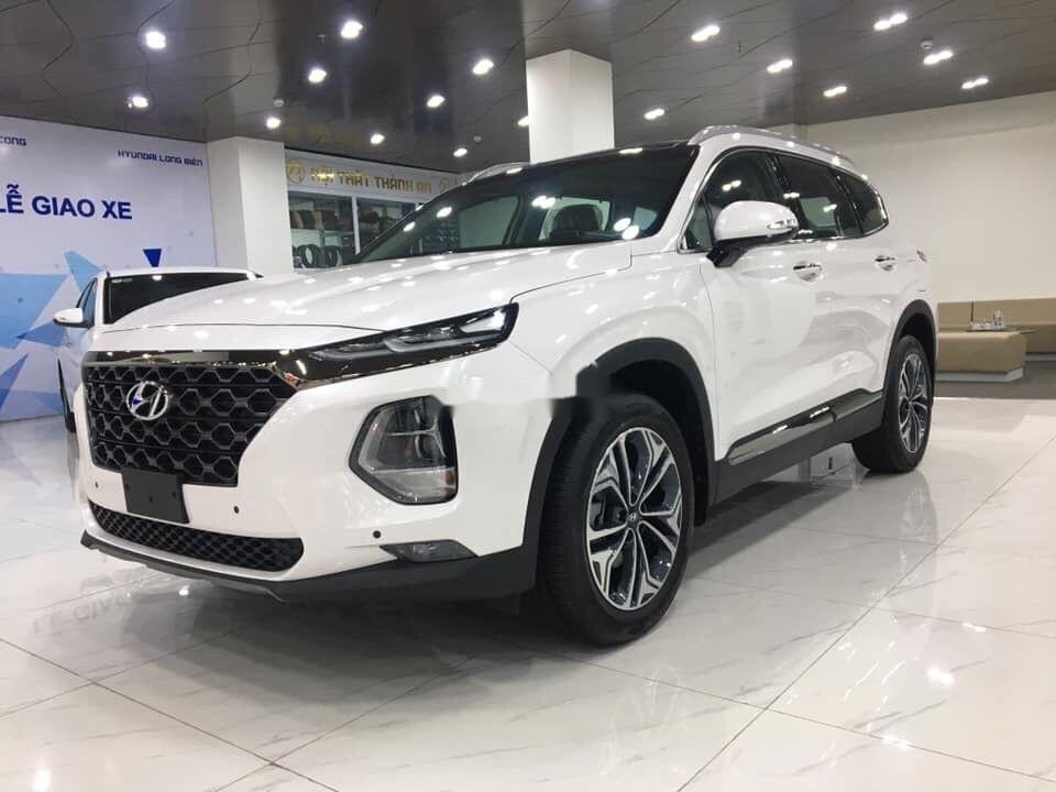 Cần bán xe Hyundai Santa Fe 2019, màu trắng, nhập khẩu nguyên chiếc (4)
