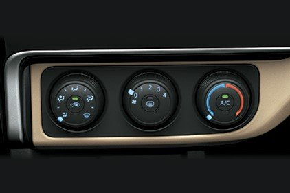 Trang bị tiện nghi xe Toyota Corolla Altis 2019: Hệ thống điều hòa chỉnh tay 1