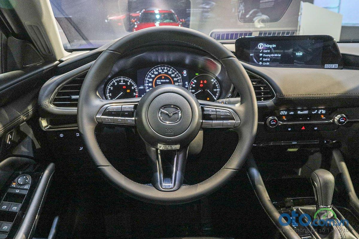 Đánh giá xe Mazda 3 Sport 2020 2.0L Premium: Vô-lăng.