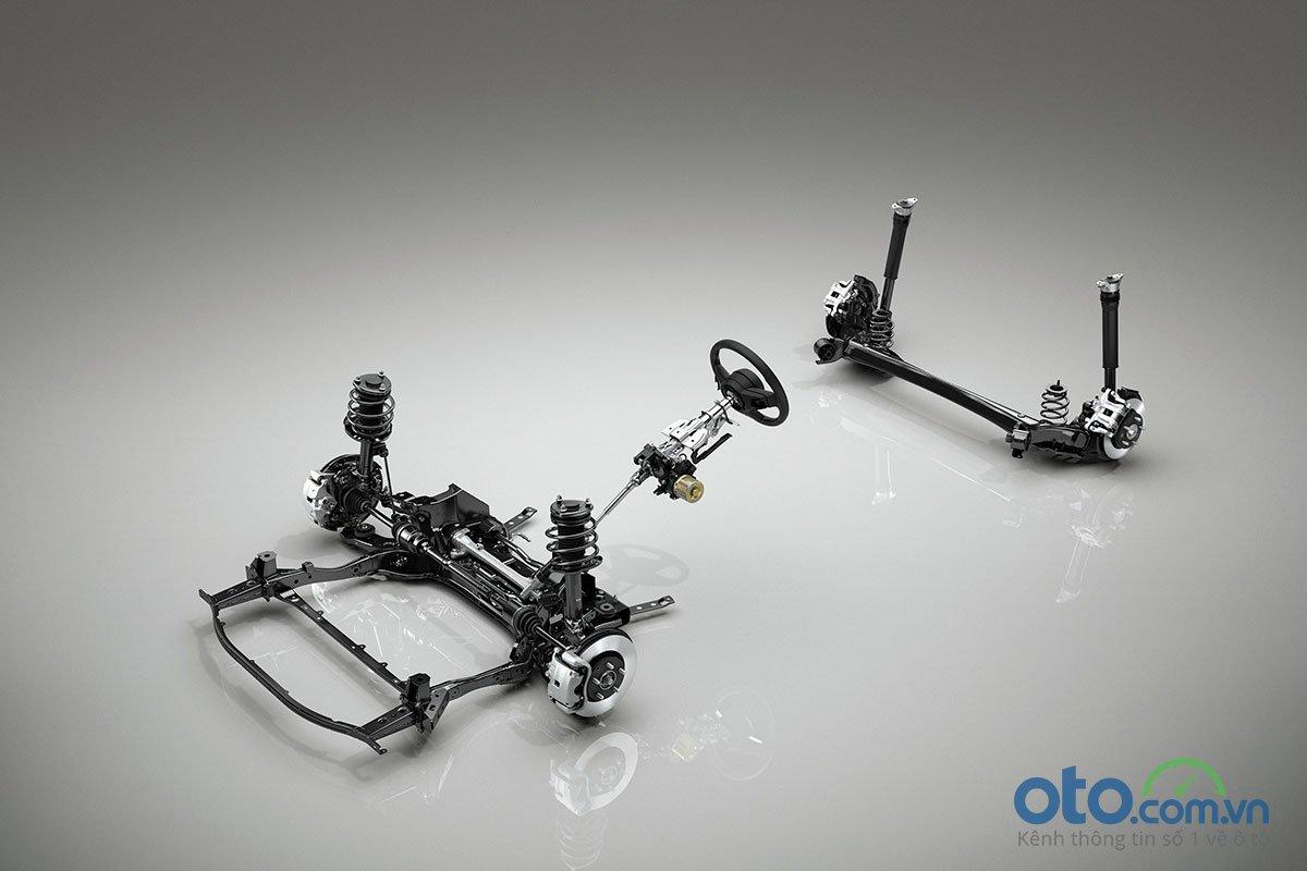 Đánh giá xe Mazda 3 Sport 2020 2.0L Premium: Hệ thống treo thanh giằng xoắn đã thay thế cho hệ thống treo liên kết đa điểm.