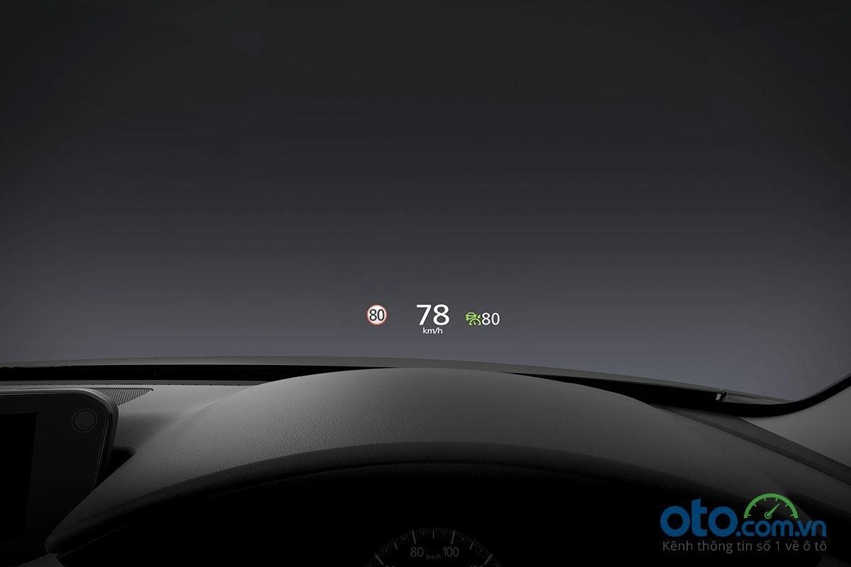 Đánh giá xe Mazda 3 Sport 2020 2.0L Premium: Hệ thống hiển thị kính lái HUD.